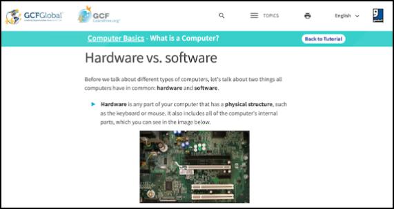 GCF Global's Computer Skills Tutorials