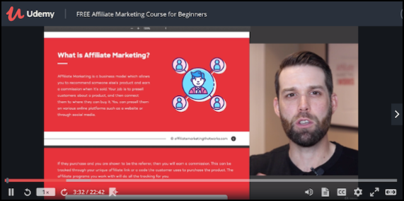 Udemy Free Affiliate Marketing Course for Beginners