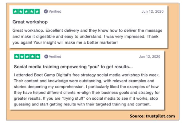 Pinterest Marketing Master Class - Bootcamp Digital - User Reviews