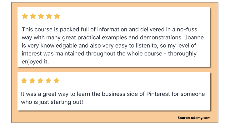 Pinterest Marketing - Pinterest for Business Basics - Udemy - User Reviews