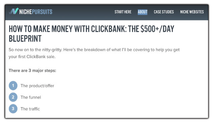 Niche Pursuits - How to Make Money with Clickbank